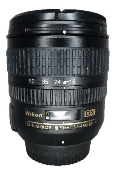 Lente Af-s Nikkor 18-70mm 1:3.5-4.5g Ed Seminova Perfeita