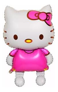 Globos Hello Kitty 98 Cms Fiesta Metalizados Infantil
