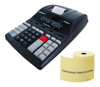 Calculadora De Impressão Térmica Pr5000t Profissional Procalc Com Bobina Extra Bivolt