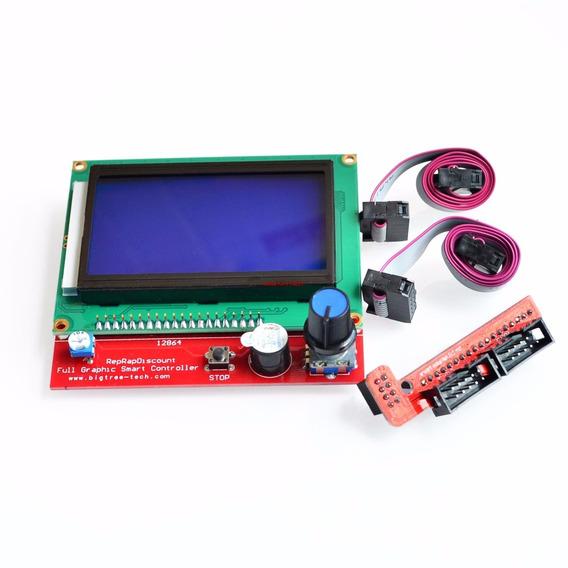 Display 128x64 Controlador P/ Ramps 1.4 C/ Entrada Cartão
