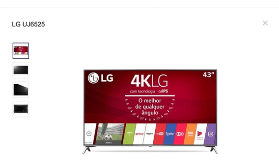 Smart Tv Led Lg 43uj6525 - 43 - 4k Uhd (2160p)