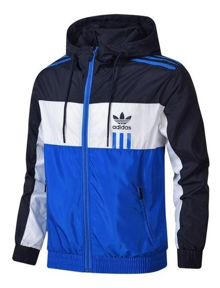 Jaqueta adidas Corta Vento Azul Masculina