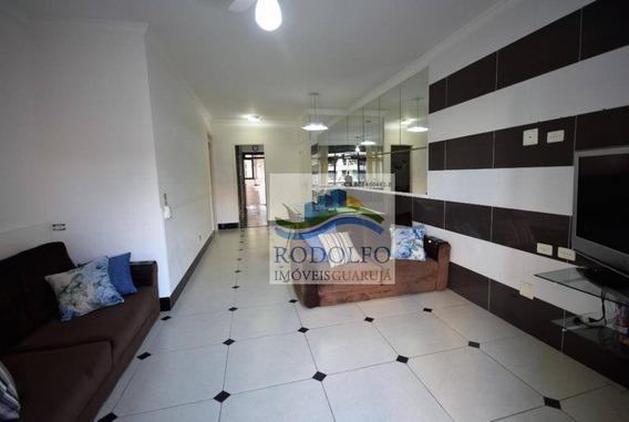 Guarujá Pitangueiras, 3dts (1 Suite) + Dependência Completa, 2 Vagas, Serviço De Praia, Lazer Completo - Ap0827