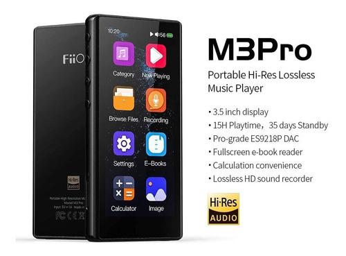 Fiio M3 Pro Mp3 Dac Touch Gravação Hd, E-book, Calculadora
