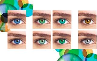 Lente De Contato Color Mel, Verde Esmeralda, Cinza, Azul E +