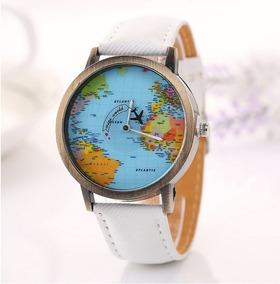 Relógio Mapa Mundi Pronta Entrega Avião Globo Unisex Cores