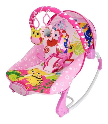 Cadeira Musical Coruja Rosa - Dican