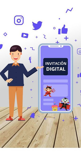 Tarjeta Invitación Digital Video Cumpleaños! La Mejor Opción
