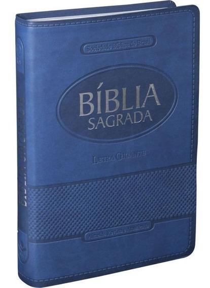 Biblia Sagrada Azul Letra Gigante - Sbb