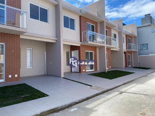 Imagem 1 de 30 de Sobrado Com 3 Dormitórios 1 Suíte E Terraço À Venda, 116 M² Por R$ 549.000 - Uberaba - Curitiba/pr - So0179