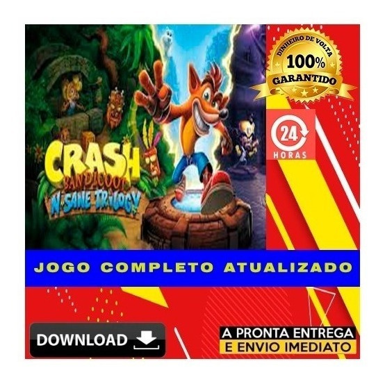 Crash Bandicoot N. Sane Trilogy + Brinde - Pc - Digital
