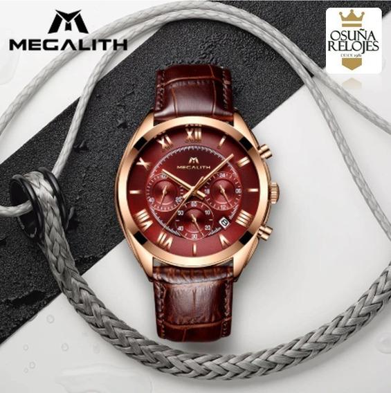 Relógio Masculino Megalith 0092m Cronógrafo 100% Funcional