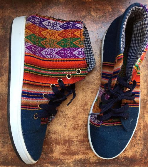 Zapatillas Botitas Norteña Símil Folk Mujer T 36