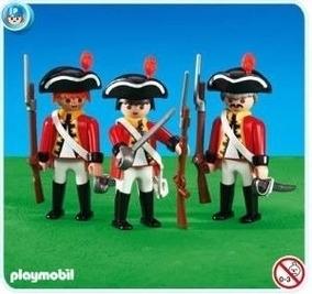 Playmobil 6229 - 3 Soldados Ingleses - Linha Pirata (novo)