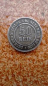 Moeda Rara 50 Reis 1886
