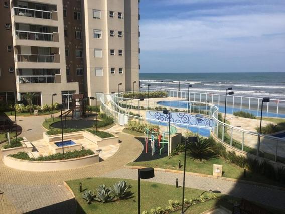 Ótimo Apartamento Frente Para O Mar! 3 Quartos Área Gourmet!