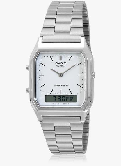 Relógio Unissex Vintage Analógico Digital Casio Aq-230a-7dmq