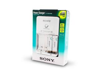 Cargador De Pilas Sony Aa/aaa Incluye 2 Pilas Aa 2500mah