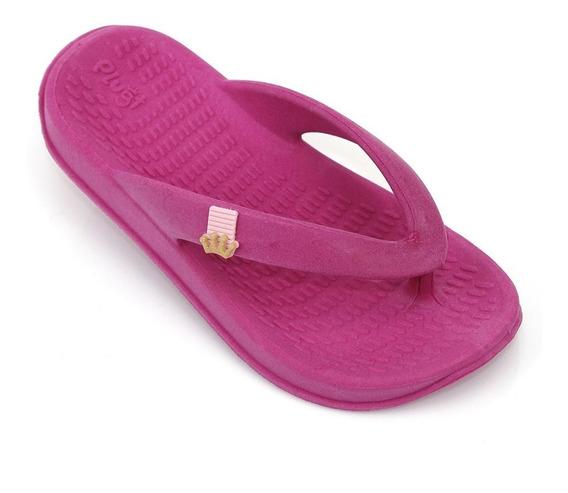 Chinelo Sandália Plugt Street Básico Liso Infantil - Pink