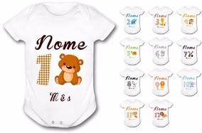 Body Bebê Personalizado Mesversario