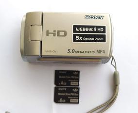 Filmadora Hd Sony Webbie Mhs-cm1 Digital + 1 Card Memória