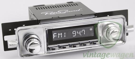 Rádio Retrosound Fusca 1958-70 Cromada Básica- Vintagewagen