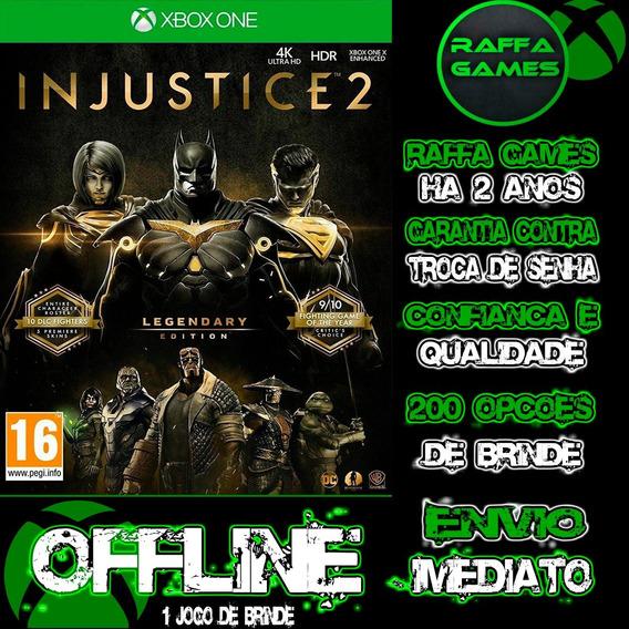 Injustice 2 Edição Lendária Xbox One Offline + Brinde
