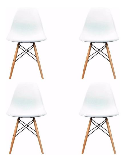 Set 4 Sillas Eames Moderna Minimalista Envios 3 Días Habiles