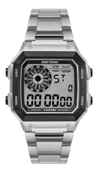 Relógio Digital Mormaii Steel Basic Prata Mo2003ja/3k