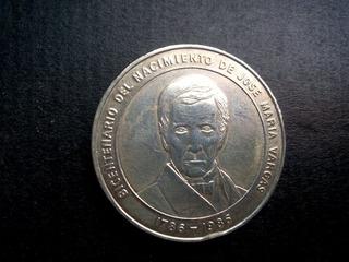 Moneda De Plata De José María Vargas (1786-1986)
