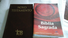 Biblia Novo Testamento E Biblia Sagrada Usadas-leia Descriçã