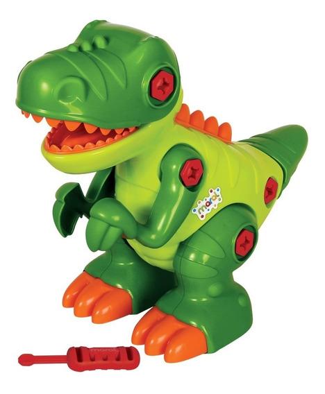Boneco Dinossauro T-rex Desmontável Maral Som 4126 De Montar