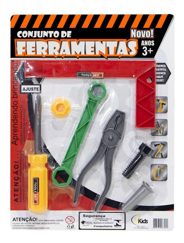 Brinquedo Infantil 5 Pçs Alicate Chave Combinada Ferramentas