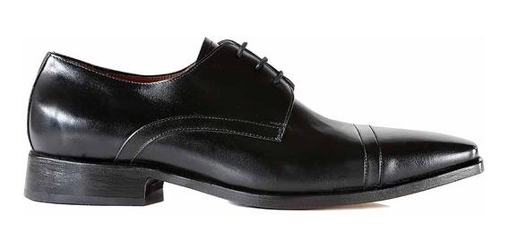 Zapato Hombre Cuero Vestir Suela Briganti Negro Hcac00686