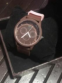 Relógio Feminino adidas Marrom Com Rosa Borracha
