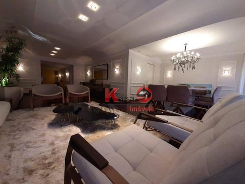 Imagem 1 de 22 de Apartamento Com 4 Dormitórios, 270 M² - Venda Por R$ 2.500.000,00 Ou Aluguel Por R$ 20.000,00/mês - Boqueirão - Santos/sp - Ap9305