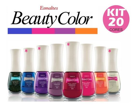 Kit 20 Esmaltes Beauty Color Atacado Promoção
