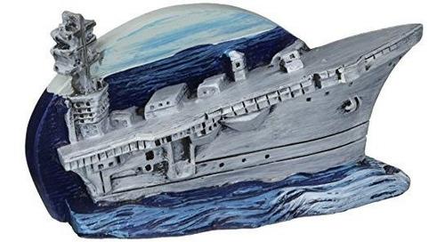 Adorno Para Acuario De Resina Naval Penn Plax  Navy Aircraft