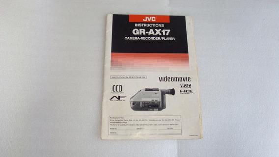 Manual Instrucoes Filmadora Gr-ax17 Jvc - Usado No Estado