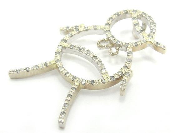 Joianete E9210-76569 Pingente 57 Diamantes Ouro Branco