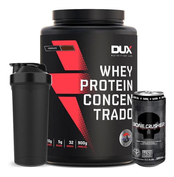 Whey Concentrado Dux Nutrition Promoção Frete Grátis +shaker
