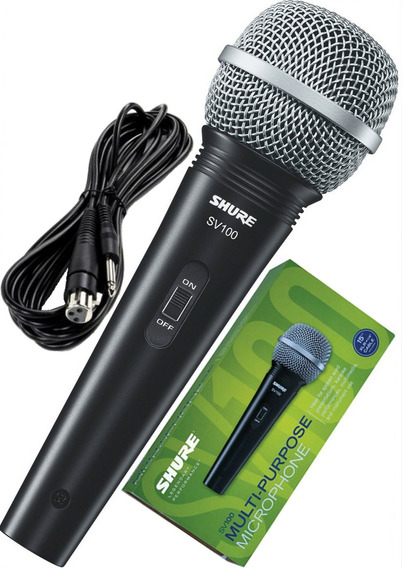 Microfone Shure Sv 100 Com Cabo Xlr(f)/p10 Original