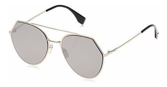 Fendi 3yg Light Gold 0194s Gafas De Sol Redondas Lens Catego