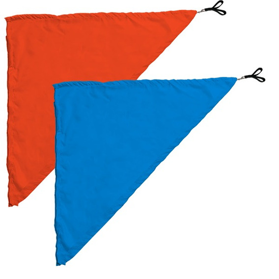 Swing Flag Triangular Azul Claro E Larajna - 70cm X 100cm