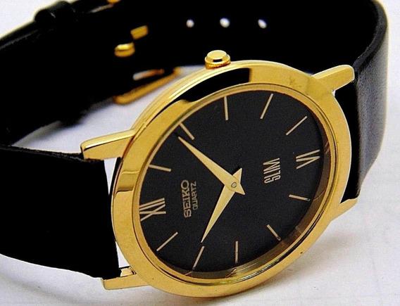 Reloj De Pulsera Seiko Chapa De Oro De Colección Vintage