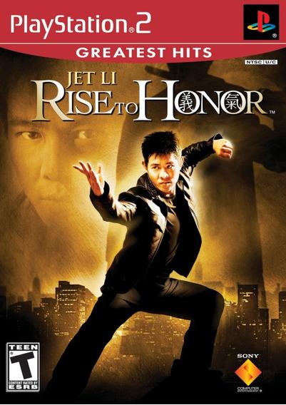 Jogo Mídia Física Jet Li Rise To Honor Original Para Ps2