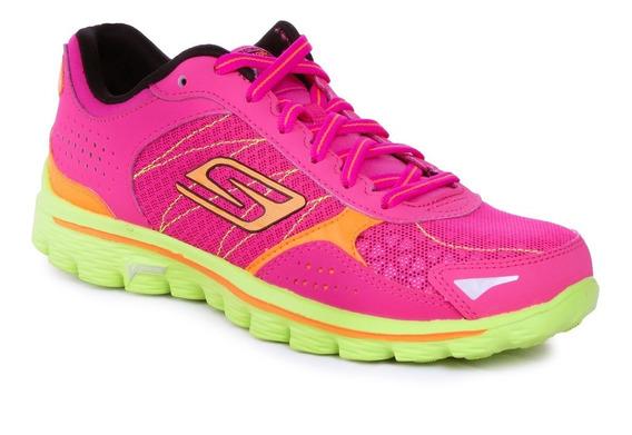Zapatillas Skechers Go Walk 2 Flash Running Importadas Mujer