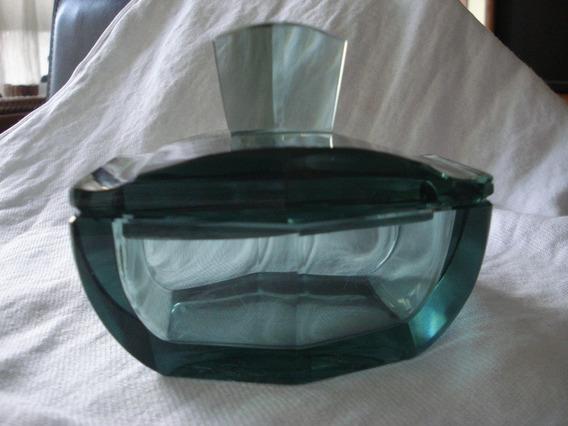 Poseira Ou Porta-jóias Em Cristal Verde