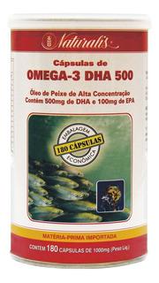 Ômega-3 Dha 500 Óleo De Peixe 180 Cápsulas 1000mg Naturalis