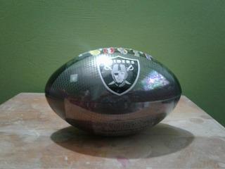 Balón Nfl Alcancia Metal Oakland Raiders Snickers Football